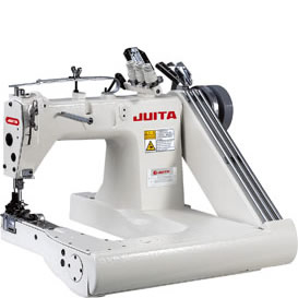 JT928 FEED-OFF-THE-ARM DOUBLE CHAINSTITCH MACHINE WITH PULLEY (3-NEWDLE DOUBLE CHAINSTITCH MACHINE)