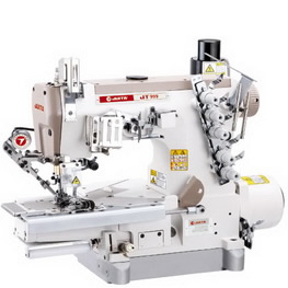 JT999-01DL※UT-Z COMPUTER CONTROLLED DIRECT DRIVE AUTOMATIC CUT-YARN CYLINDER BED INTERLOCK SEWING MACHINE (ELASTIC LACE ATTACHING)